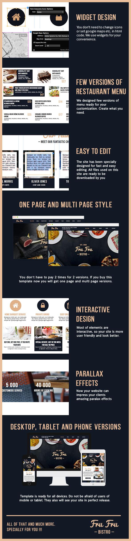 Fru Fru - Multi&One Page Restaurant Muse Theme