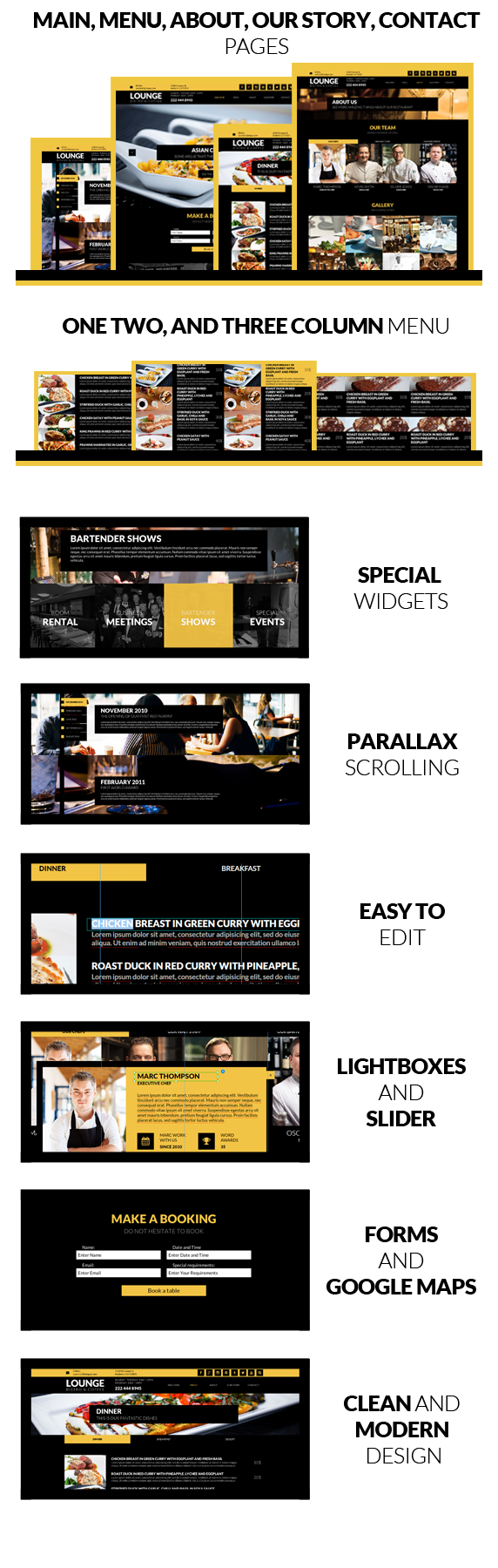 Lounge - Multipage Restaurant Business Muse Theme - 3